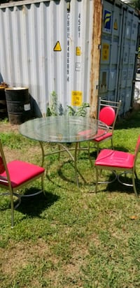 Vintage glass table and chairs Elkhart, 46514
