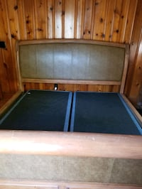 Wooden bed set. Box springs included. Portsmouth, 23707