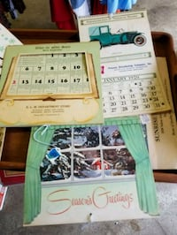 VINTAGE ADVERTISEMENT CALENDARS $5 & $8EACH Hagerstown, 21740