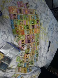 assorted pokemon trading cards