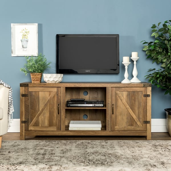 rustic tv stand with barn doors for 65 inch tv  co