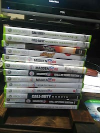 Xbox one games and xbox 360 games
