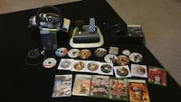 Xbox 360 game controllers and game case lot