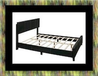 Queen bed platform bed with mattress Brentwood