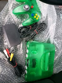 Jungle Green N64 Console & Controller + Cables