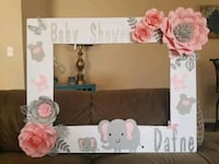 white and pink floral photo frame Las Vegas