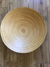 Large bamboo bowl