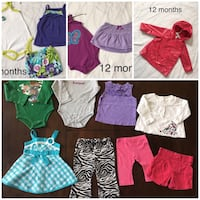 Baby / toddler girl clothes - 12 months East Palo Alto, 94303