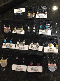 15 pairs new never used handmade earrings Lutherville Timonium, 21093