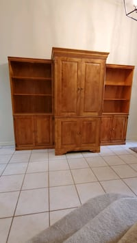 3 pc cabinets (entertainment or computer) center