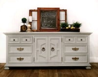 white wooden 6-drawer lowboy dresser Aldie, 20105