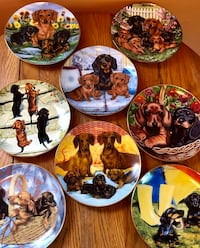 DACHSHUND COLLECTIBLE PLATES
