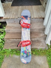 Snowboard equipped with boots & bindings Orillia, L3V 1V9