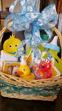 Gift Basket for baby boy shower