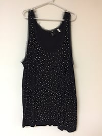 H&M black tank top with gold sparkles Toronto, M4B 2G9