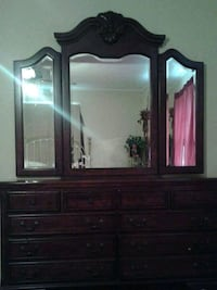 brown wooden dresser with mirror Amory, 38821