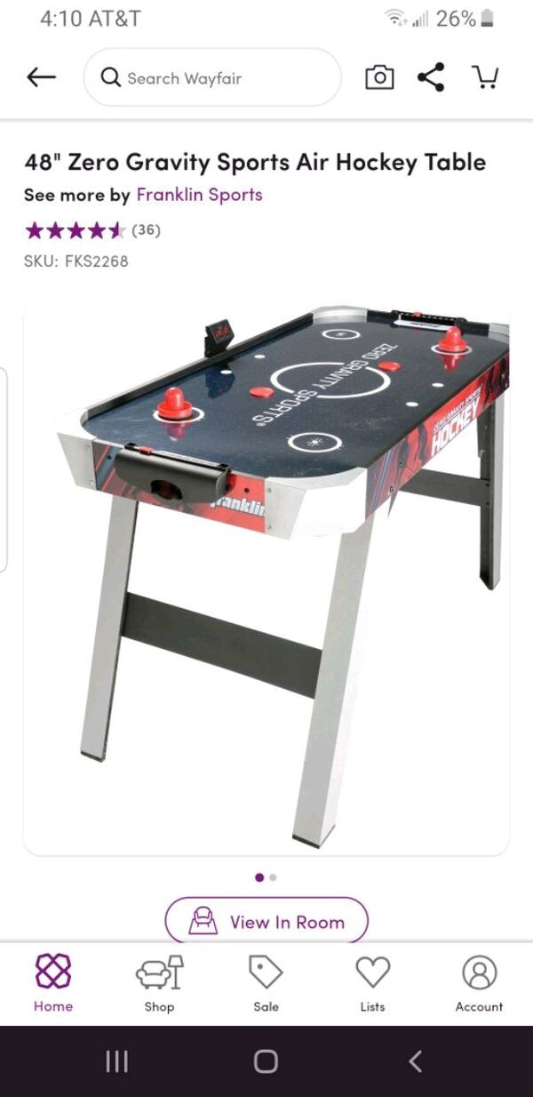 48 inch air hockey table - brand new still in box a5860422-25f8-4dac-8724-fc318ac06f0a