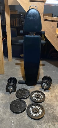 Lifting bench + weight set