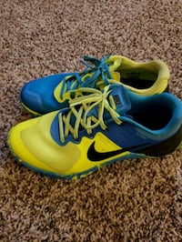 pair of blue-and-green Nike running shoes Westland, 48185