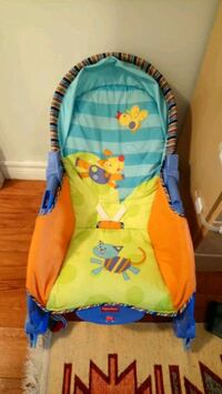 baby's blue and green bouncer Mississauga, L4T 0A3