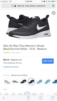 Size 6.5 Nike air max women's  Salem, 97304