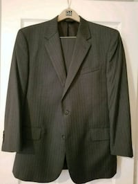 Men's Suit 44r Grey Pin Stripe Spring, 77386