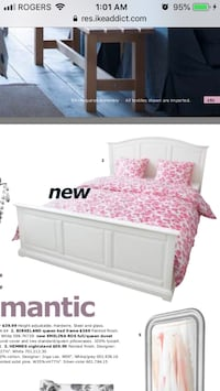 Used Ikea -Queen bed frame