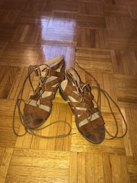 Pair of brown open-toe ankle strap sandals Toronto, M9L 2B3