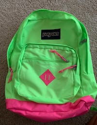Jansport Neon Green/Pink Backpack Norfolk, 23518