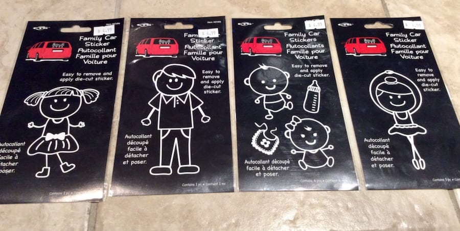 ** New** 4 Family Car Stickers  aa555a6c-cb22-4a87-9421-fc67c2f07952