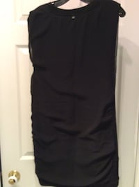 Black sleeveless Rudsak cocktail dress.