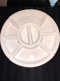 White ceramic assorted snack dish that rotates Ottawa, K2G 6C3