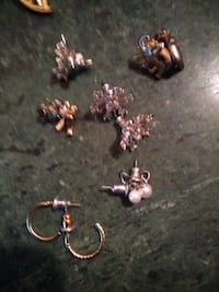 Angel flower dragonfly elephant pearl and small hoop