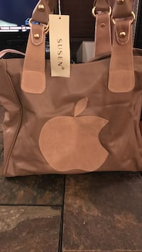 Brown leather bag Laval, H7G