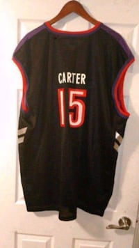 NBA Champion Toronto Raptors Vince Carter #15 Signed Jersey  This was signed when he was visiting my daughter's school over 12 years ago and I had it signed. NO COA is available. It is very collectible and very hard to find brand new and signed in Toronto