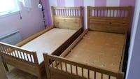 $180 for 2 twin beds + 2 twin mattresses OR $100 for 1 bed+1 mattress  Brossard, J4Y 1A7