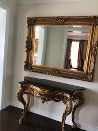 brown wooden framed mirror with mirror TORONTO
