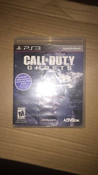 Call of Duty Ghosts Sony PS3 game case Montréal, H1N 3N4
