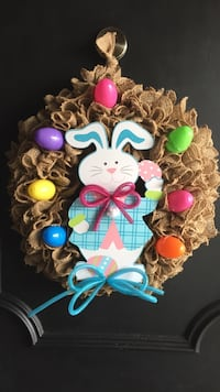 Hippity Hop Easter is almost here, get your 14 inch Easter wreath while supplies last, pickup only, handmade ((; Hamilton, L8E 3W5