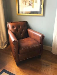 Brown leather arm chair Lafayette, 70506