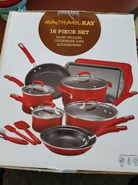 Rachel Ray 16 piece set hard enamel cook ware Herndon, 20171