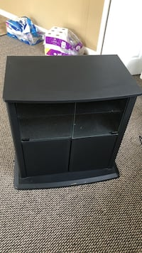 gray wooden TV stand Michigan Center, 49254