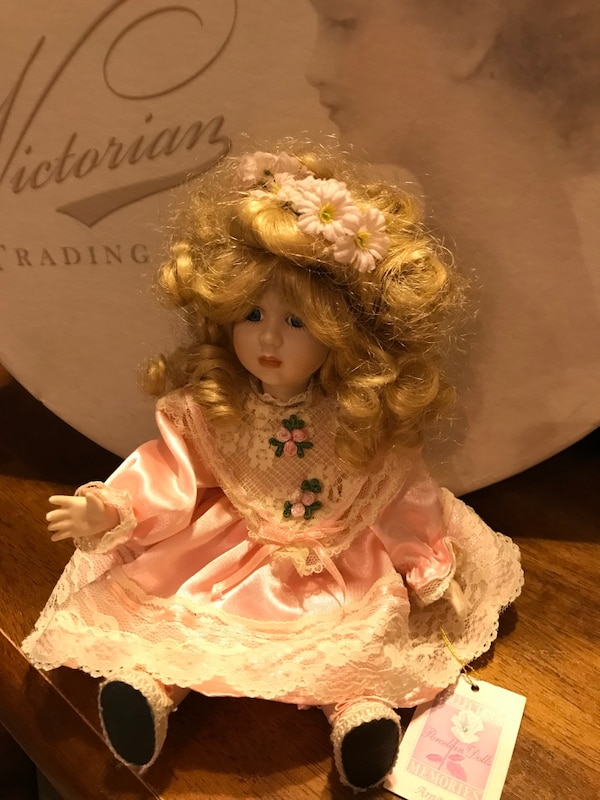 Pretty in Pink Small Victorian Porcelain Doll 43d934fc-a1be-4860-ab93-2e40b1f8dad9