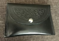 Genuine leather celtic wallet/make-up bag