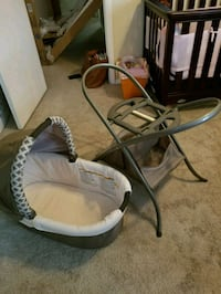 baby's white and gray cradle and swing Frederick, 21703