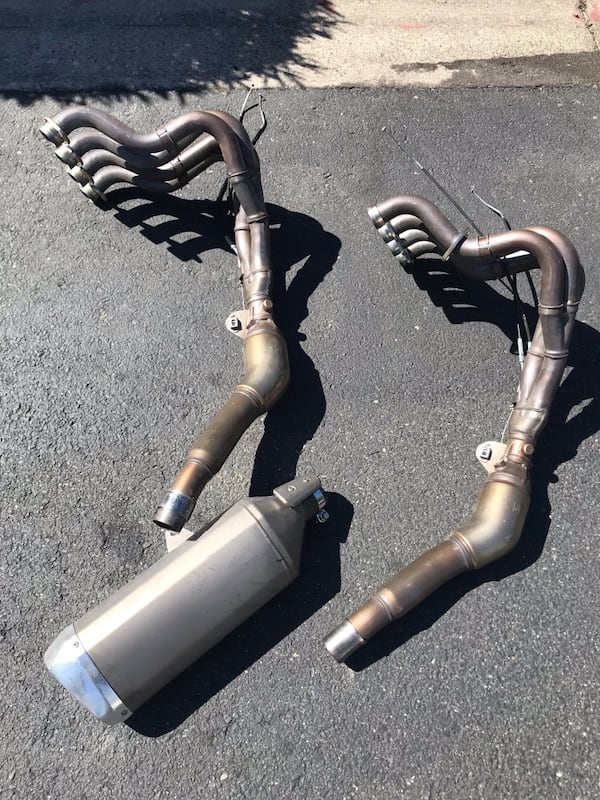 2013 Suzuki GSXR 1000 Exhaust Manifolds with exhaust pipe 0