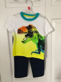 Brand new  2T 2 pc dinosaur applique tee and jogger pants set. (Pick up only) Alexandria, 22315