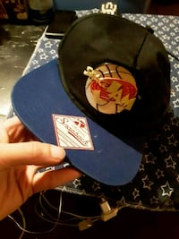 black and red fitted cap 137 mi