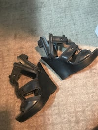 Black wedge aldo sandals