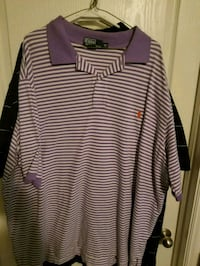 purple and white striped polo shirt San Antonio, 78254
